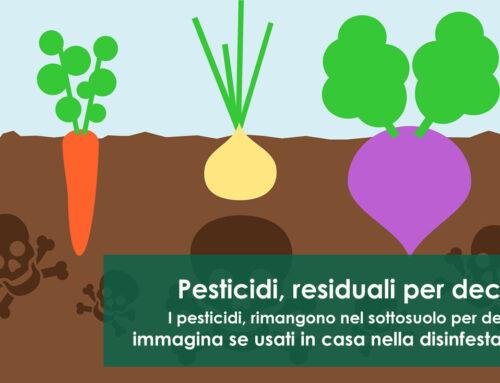 Pesticidi residuali per anni negli ambienti